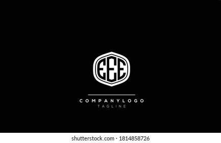 Alphabet letters Initials Monogram logo  EEE,3E,EE AND E