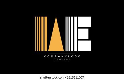 Alphabet letters Initials Monogram logo WE,EW,W and E