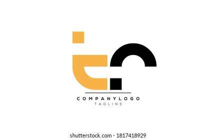 Alphabet letters Initials Monogram logo TR,RT,R and T