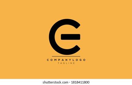 Alphabet letters Initials Monogram logo CE,EC,E and C
