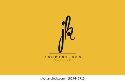 Alphabet letters Initials Monogram logo JK,KJ