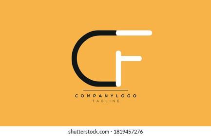 Alphabet letters Initials Monogram logo CF,FC,C and F