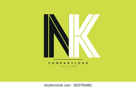 Alphabet letters Initials Monogram logo NK,KN,N and K