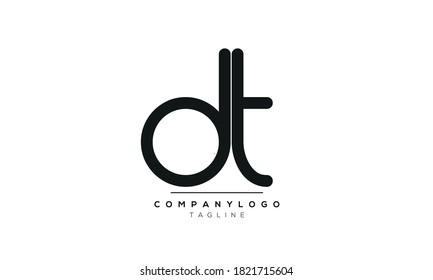 Alphabet letters Initials Monogram logo DT,TD,D and T
