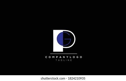 Alphabet letters Initials Monogram logo  PG,GP,P AND  G