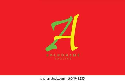 Alphabet letters Initials Monogram logo ZA, ZA INITIAL, AZ LOGO,Z and A