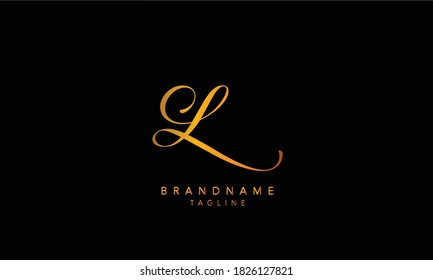 Alphabet letters Initials Monogram logo L, L INITIAL