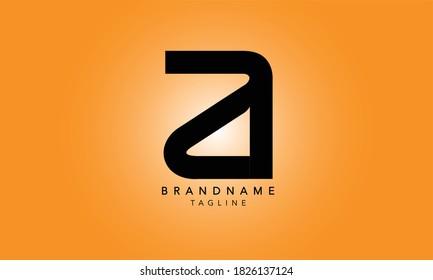 Alphabet letters Initials Monogram logo ZA, ZA INITIAL, AZ letters, Z and A