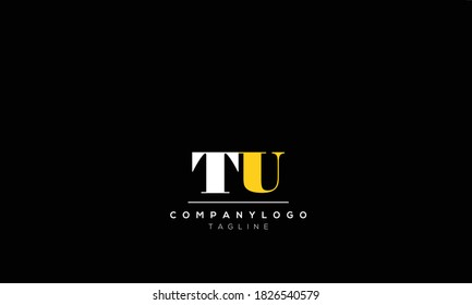 Alphabet letters Initials Monogram logo  tu, ut,t AND  u