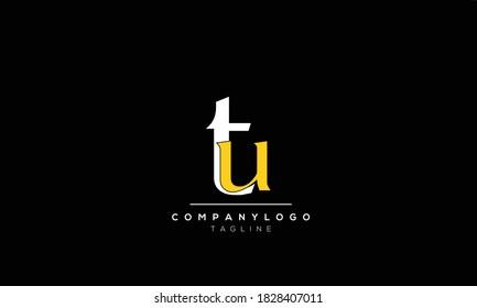 Alphabet letters Initials Monogram logo  UT, TU,T AND  U