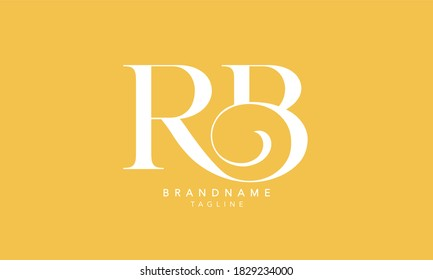 Alphabet letters Initials Monogram logo RB, BR, R and B