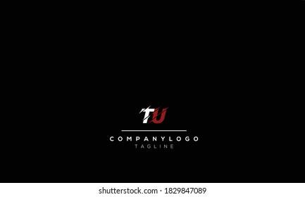 Alphabet letters Initials Monogram logo   tu, ut, t and  u