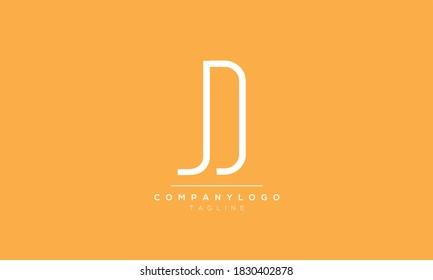 Alphabet letters Initials Monogram logo JD,DJ,D and J