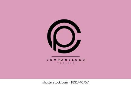 Alphabet letters Initials Monogram logo CP,PC,C and P