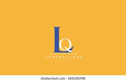 Alphabet letters Initials Monogram logo  lq,ql, l AND  q