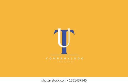 Alphabet letters Initials Monogram logo  tu,ut, t AND  u