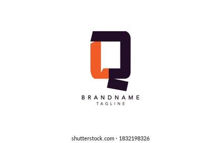 Alphabet letters Initials Monogram logo LQ, QL INITIAL, LQ letter ,Q and L