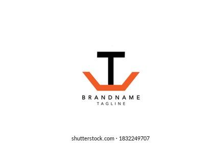 Alphabet letters Initials Monogram logo TU,UT INITIAL, TU letter , T and U
