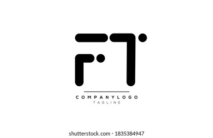 Alphabet letters Initials Monogram logo FT or TF