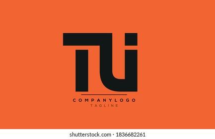 Alphabet letters Initials Monogram logo TU or UT or T