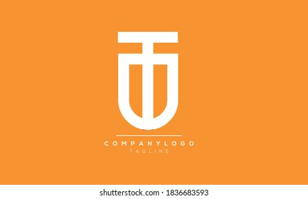 Alphabet letters Initials Monogram logo TU