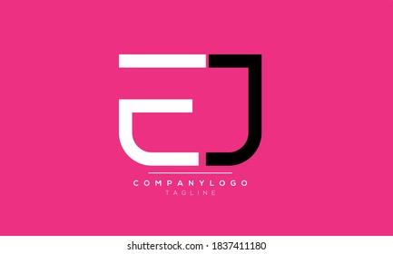 Alphabet letters Initials Monogram logo EJ,JE,E and J