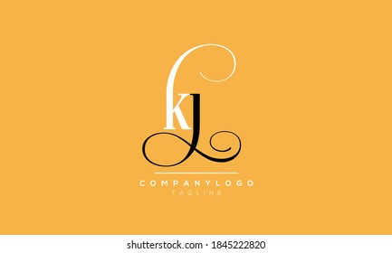 Alphabet letters Initials Monogram logo Jk or kj