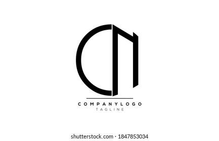 Alphabet letters Initials Monogram logo CN or NC