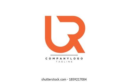 Alphabet letters Initials Monogram logo UR,RU,U and R