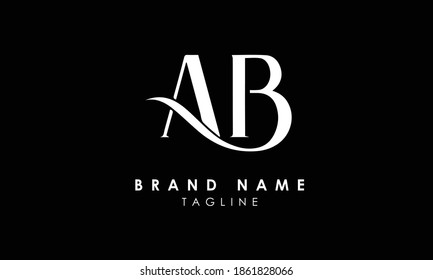 Alphabet letters Initials Monogram logo AB, BA, A and B