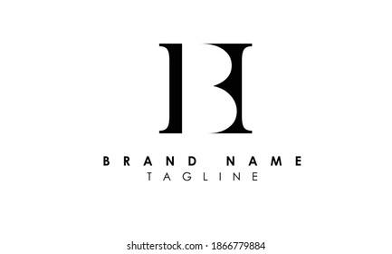 Alphabet letters Initials Monogram logo hb, bh, h and b