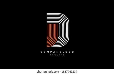 Alphabet letters Initials Monogram logo JD and DJ