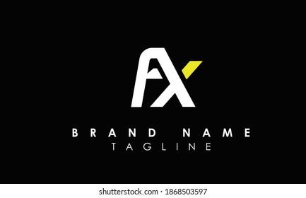 Alphabet letters Initials Monogram logo FX, XF, F and X