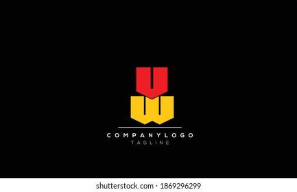 Alphabet letters Initials Monogram logo  VW, WV,W  AND V