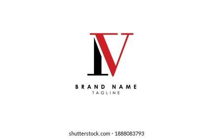 Alphabet letters Initials Monogram logo IV, VI, I and V