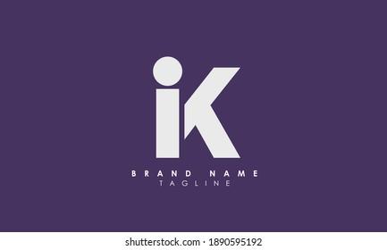 Alphabet letters Initials Monogram logo IK, KI, I and K, Alphabet Letters IK minimalist logo design in a simple yet elegant font, Unique modern creative minimal circular shaped fashion brands