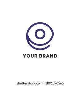 Alphabet letters Initials Monogram logo E Eye Simple For Company Business. Modern Logo Design