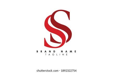 Alphabet letters Initials Monogram logo SS, S and S, Alphabet Letters SS minimalist logo design in a simple yet elegant font, Unique modern creative minimal circular shaped fashion brands