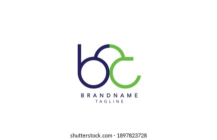 Alphabet letters Initials Monogram logo BC,BC INITIAL, BC letter , C and B