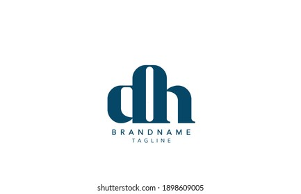 Alphabet letters Initials Monogram logo DH,DH INITIAL, DH letter , D and H