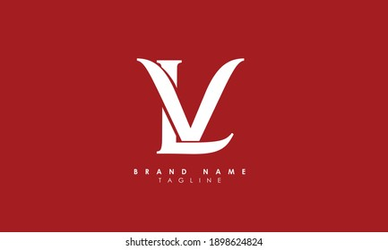 Alphabet letters Initials Monogram logo LV, VL, L and V