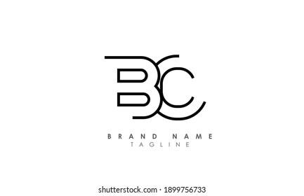 Alphabet letters Initials Monogram logo BC, CB, B and C, Alphabet Letters BC minimalist logo design in a simple yet elegant font, Unique modern creative minimal circular shaped fashion brands