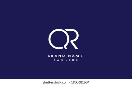 Alphabet letters Initials Monogram logo QR, RQ, Q and R