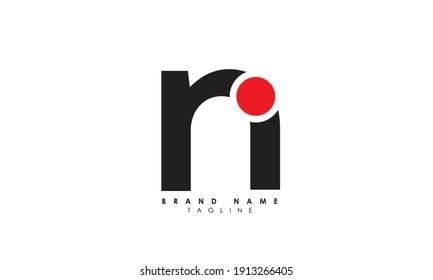 Alphabet letters Initials Monogram logo RN, NR, R and N, Alphabet Letters RN minimalist logo design in a simple yet elegant font, Unique modern creative minimal circular shaped fashion brands