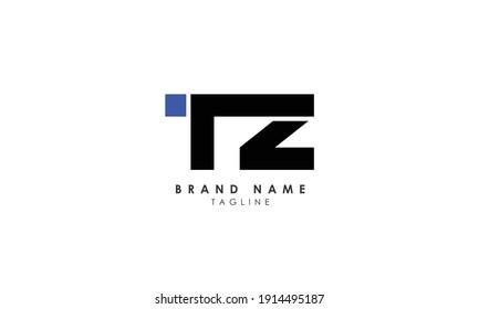 Alphabet letters Initials Monogram logo ZT, T and Z, Alphabet Letters TZ minimalist logo design in a simple yet elegant font, Unique modern creative minimal circular shaped fashion brands