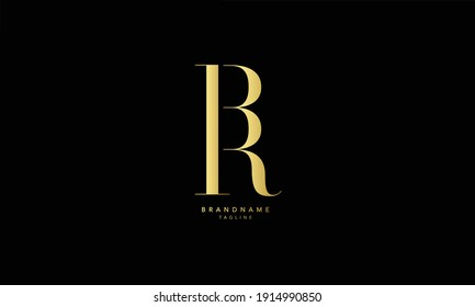 Alphabet letters Initials Monogram logo BR, RB, B and R