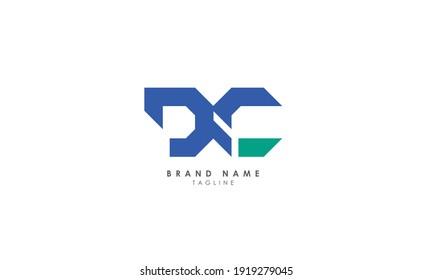 Alphabet letters Initials Monogram logo DC, CD, D and C