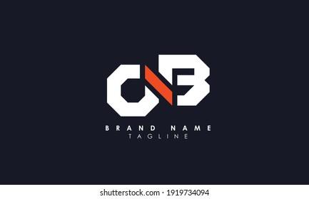 Alphabet letters Initials Monogram logo OB, BO, O and B