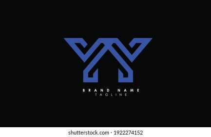 Alphabet letters Initials Monogram logo YY, Y and Y