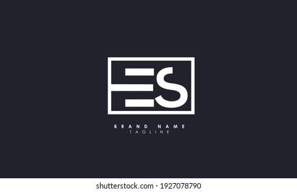 Alphabet letters Initials Monogram logo ES, SE, E and S